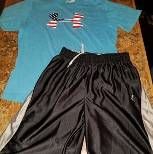 Under armour heat gear athletic outfit mix